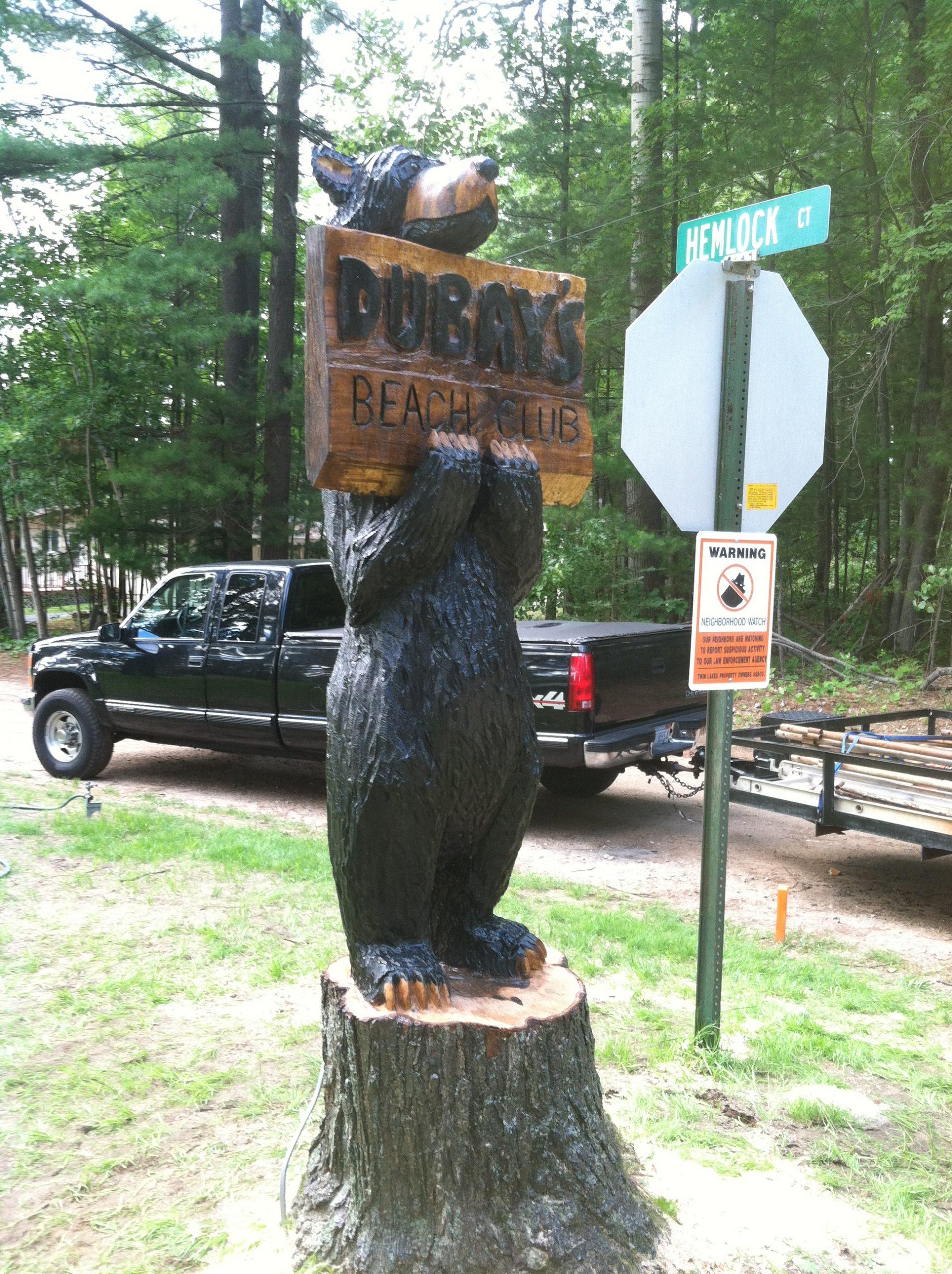 Standing sign Bear